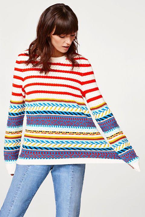 Cotton blend multi-coloured jumper