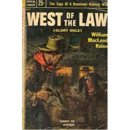 West of The Law, 1953, vintage western paperback #BOOK