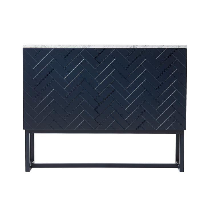 Story Cabinet, Blue/ Grey/ Marble £1415. - RoyalDesign.co.uk