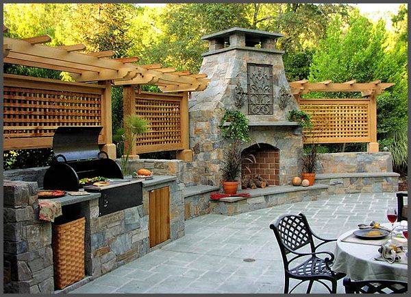 17 images about outdoor kitchens fireplaces on for Outdoor kitchen pergola ideas
