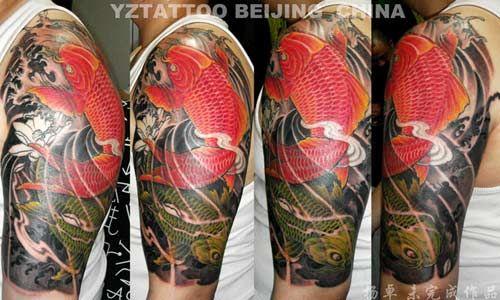 Orange koi tattoo designs pin red koi tattoo designs on for Red koi tattoo