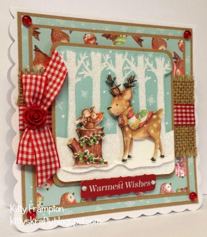 Made for Making Cards using Trimcraft Winter Wonderland Decoupage & Papers. More info on my blog - http://kittyskrafty.blogspot.co.uk/2014/12/winter-wonderland-part-two.html