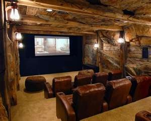 Home theater in basement ideas