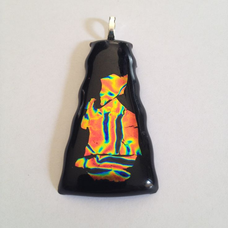 Dichroic Glass jewellery created by Barry Wright (Glass jewellery Artist)  Copyright: Barry Wright. 2014. Artwork Title: Priest. sale price: $70.00AUD