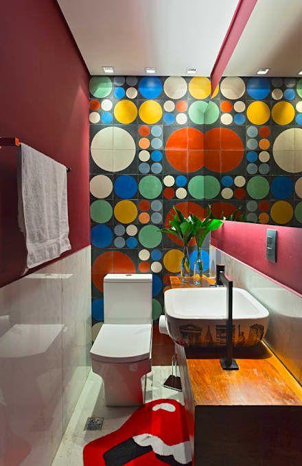 PUB BOLA: Banheiros modernos por Lucas Lage Arquitetura