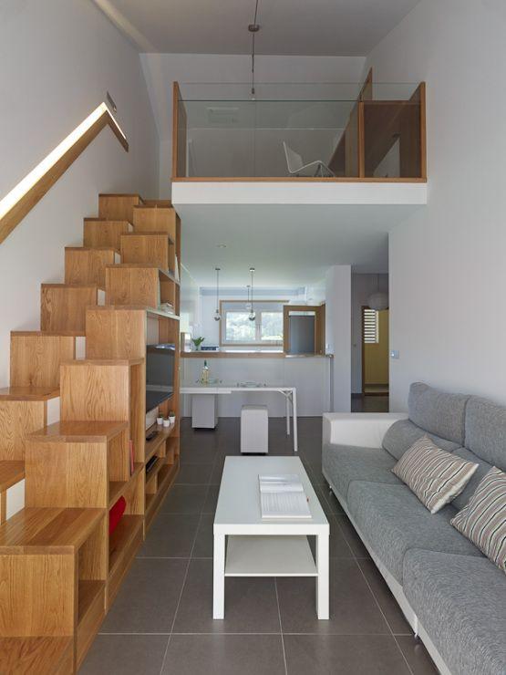 Soluciones almacenamiento mueble doble funci n inspiraci n for Disenos de departamentos pequenos modernos