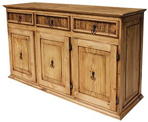 Kitchen Island Made Of Old Credenza