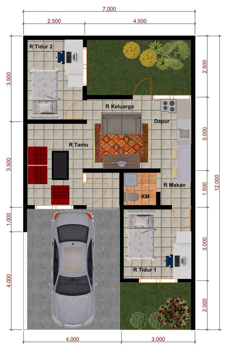 desain rumah minimalis perumahan griya mas sidoarjo denah