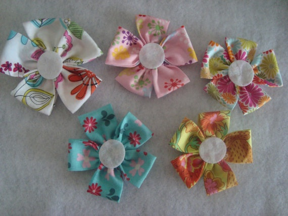Your Choice of Multicolored  Fabric Flower by UnPetitPapillon, $2.00