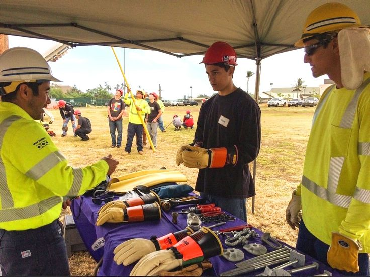 Our Maui Electric linemen review the different types of