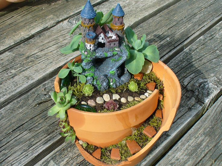 Best 25 Fairy Garden Pots Ideas On Pinterest Fairy Pots Mini Fairy Garden And Broken Pot Garden