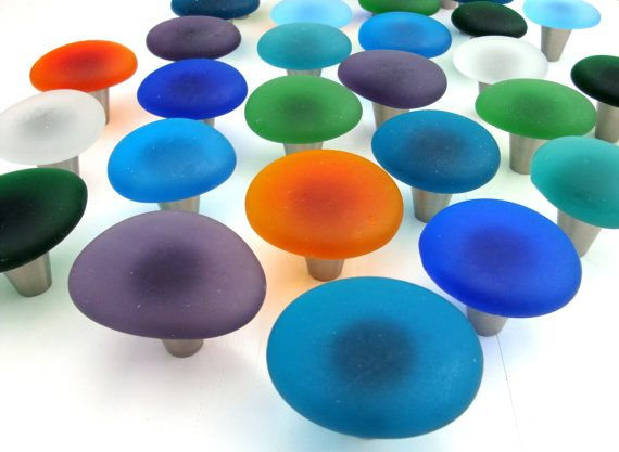 Good Beach Decor Sea Glass Cabinet Knobs Drawer Pulls By Beachyrustica .
