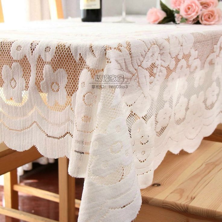 Pastoral Tablecloth Lace White Round&Square Table cloth Crocheted Hollow manteles para mesa table cover for wedding,home,banquet
