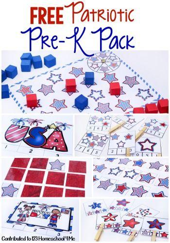FREE PreK -K Patriotic Pack