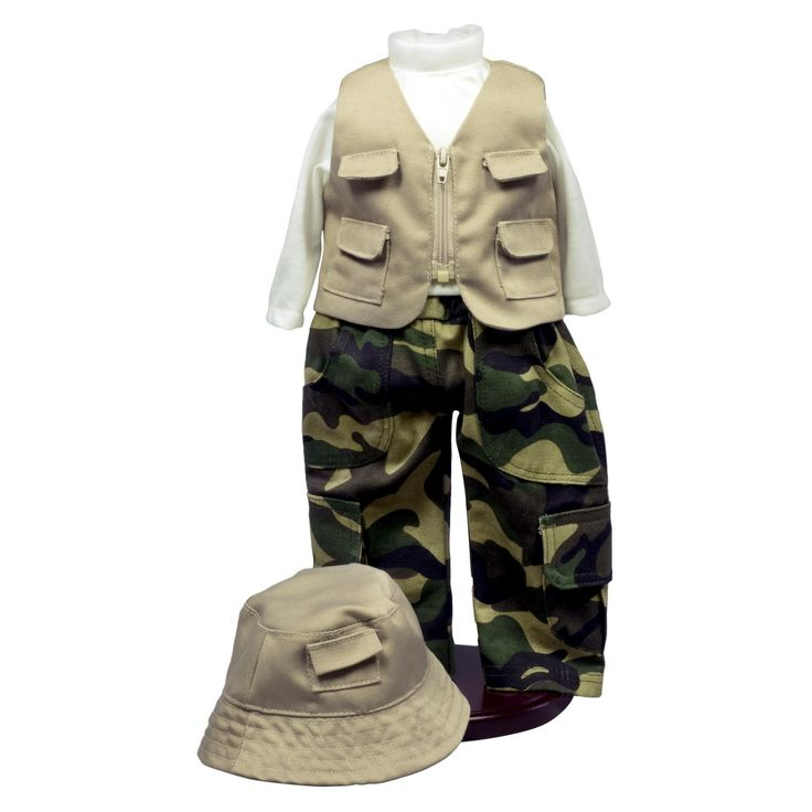The Queen's Treasures 18 Inch Doll Clothes And Accessories, Fishing Outfit, Hat, Pants, Shirt, Vest