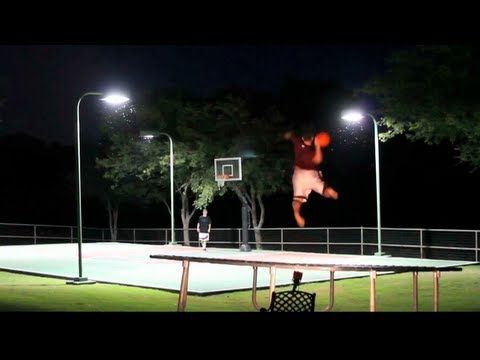 Trampoline basket ball - FAILS and flips - 4k! - YouTube