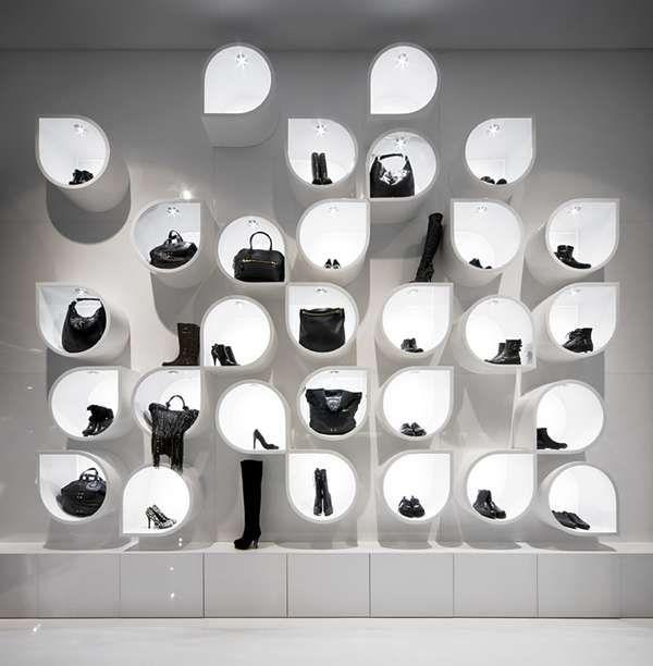 retail shelving, handbags - *nice, retro design