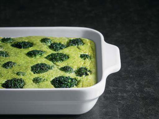 Flan aux brocolis au micro-ondes en 35 minutes au four