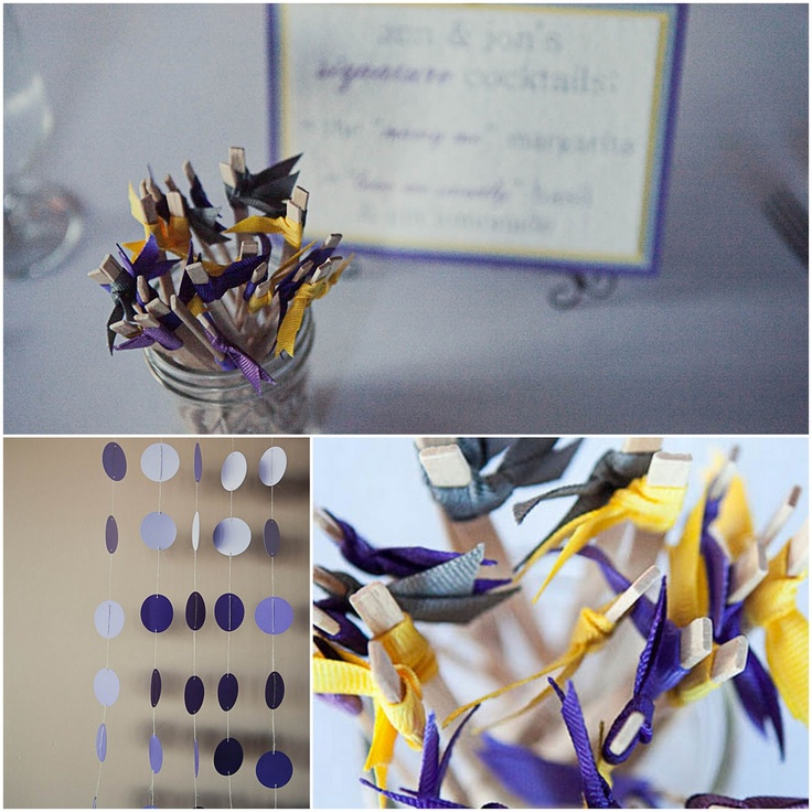 Plum, Grey, & Canary Yellow wedding   //  mo hines photography