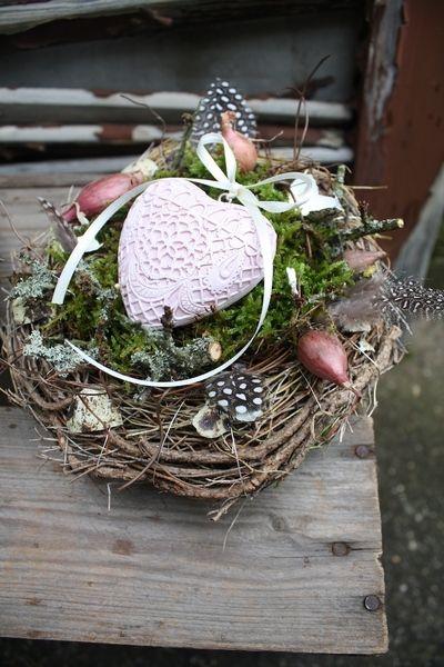 ***NEU*** Ein Nest mit Herz *Rosalie* von Frijda im Garten - Aus einer Idee wurde Leidenschaft auf DaWanda.com
