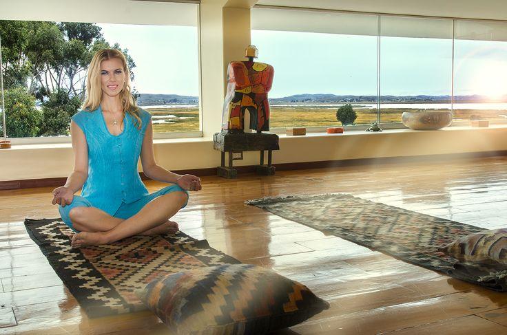 Un poco de yoga...