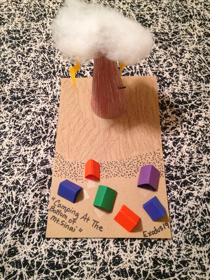 idée maquette Children's Bible Lessons: Lesson - Camping At The Bottom Of Mt. Sinai
