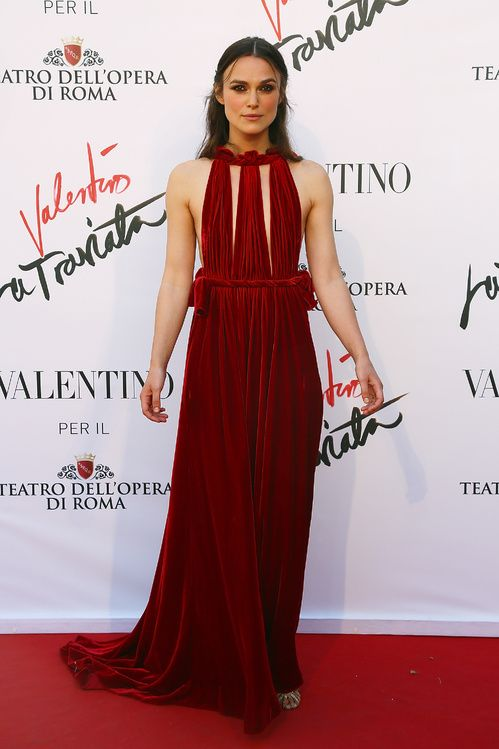 "#KeiraKnightley in #Valentino - ""La Traviata"" opening night at Teatro dell'Opera of Roma"