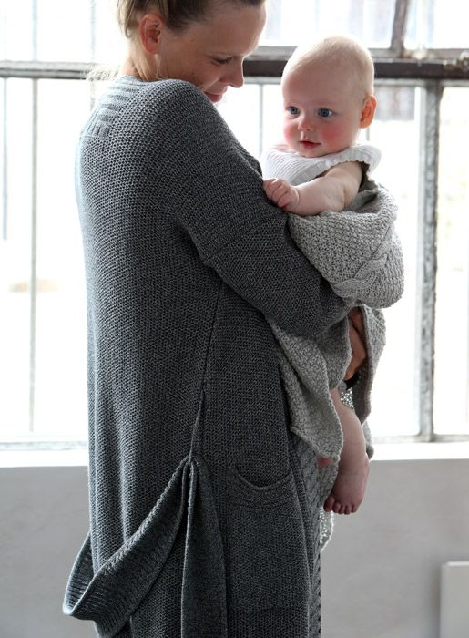 knitted dressing gown - for in OR out of the house - luna lounge