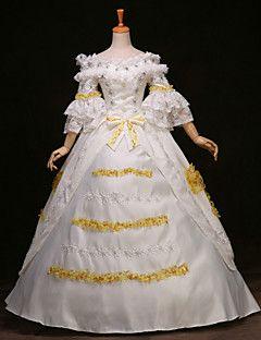 vestito vittoriano maniche lunghe principessa vendita steampunk®top partito reale lunghi abiti da ballo