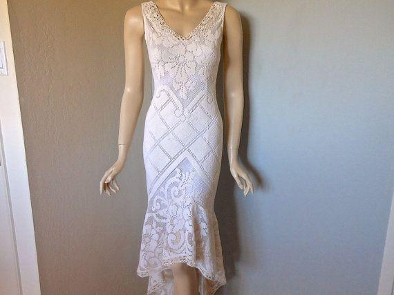 Vintage BoHo Cut Work LACE Dress Prom Wedding Hi by MuseClothing, $275.00 on Etsy.com