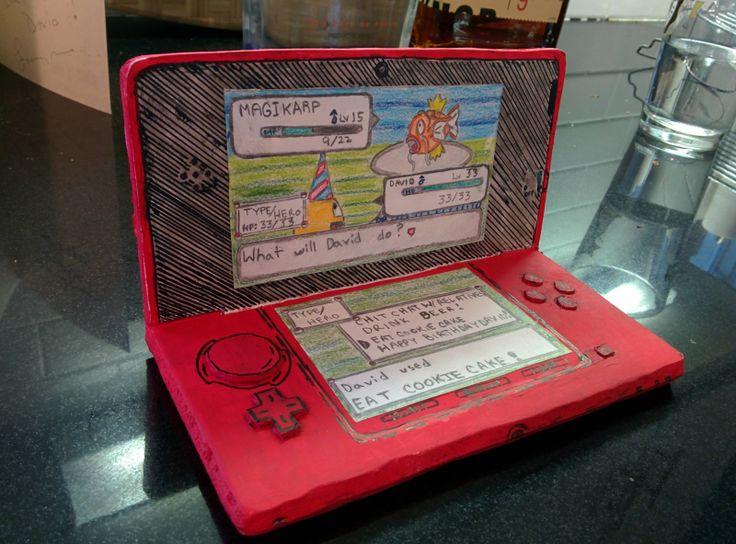 Creative Pokemon birthday card. Pokemon gameboy video ...