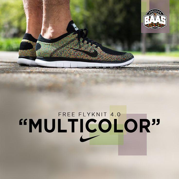 """Nike Free Flyknit 4.0 """"Multicolor""""   Now online!   www.sneakerbaas.nl   #Nike #Free #Flyknit #Fresh"""