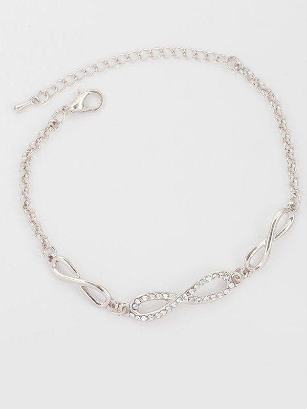 Rhinestone Bows Infinite Chain Bracelet #hats, #watches, #belts, #fashion, #style
