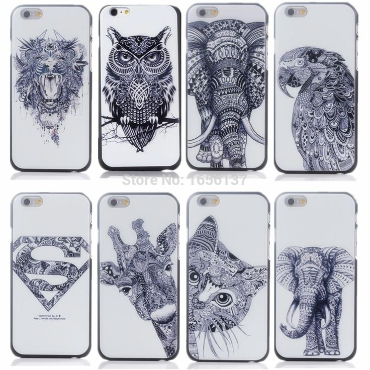 For Apple iPhone 6 Plus/6S Plus Case New Style Cute Cartoon Animal world logo giraffe Elephant OWL Phone Case Cover