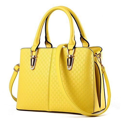 New Trending Purses: Women Handbag,Women Bag, Shoulder Bag KINGH Zip Closure Tote Vintage Bag PU Leather 119 Yellow. Women Handbag,Women Bag, Shoulder Bag KINGH Zip Closure Tote Vintage Bag PU Leather 119 Yellow  Special Offer: $20.99  333 Reviews Product Feature: Elegant PU leather handbag. Handbag inside: 1 interior zipper pockets, 2 small pocket style organizers for phone and cards,1 zipper...