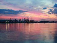 横浜工場群 (朝焼け・夜明け・日の出の写真)