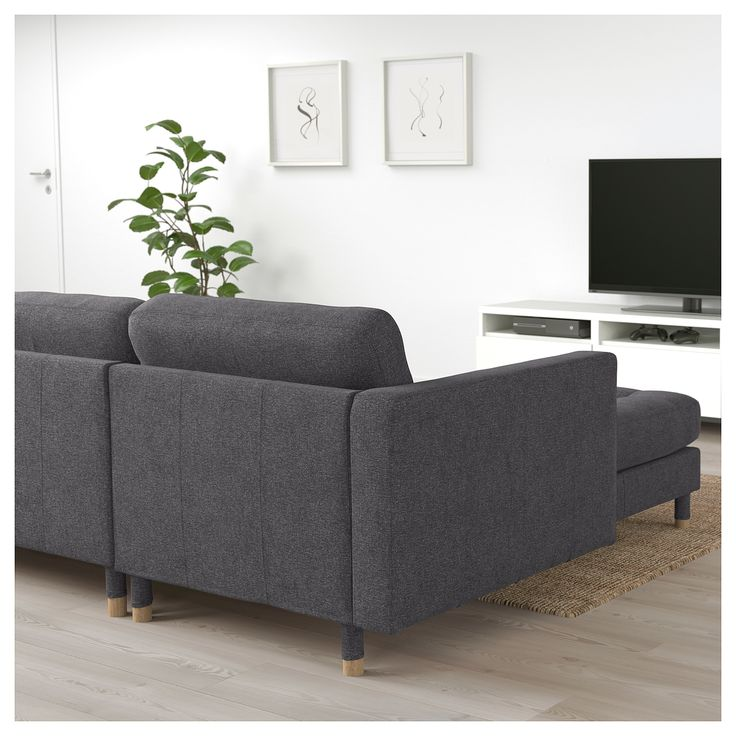 Landskrona Sectional 4 Seat With Chaise Gunnared Dark