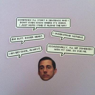 Michael Scott cite autocollant Set par sassycelebs sur Etsy