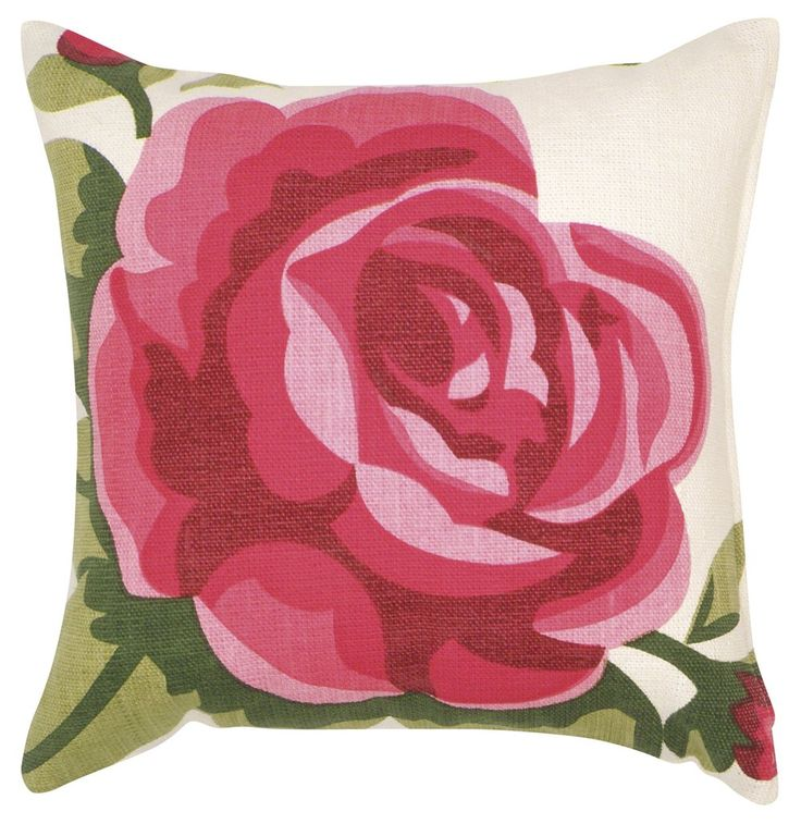 Rosie Bloom Square Cushion - Wallace Cotton