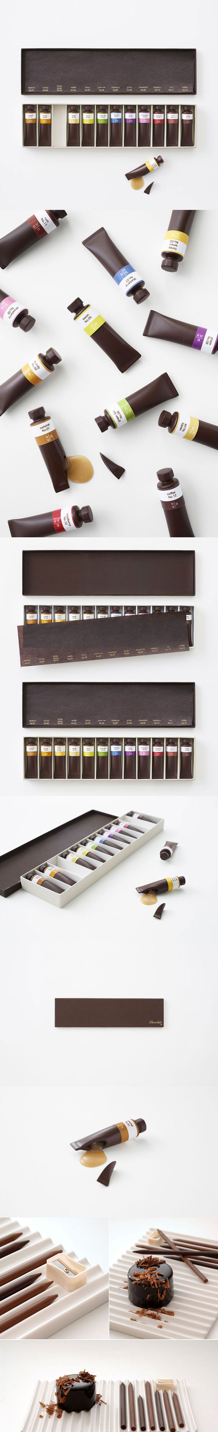 Edible Chocolate Paint Tubes by Nendo