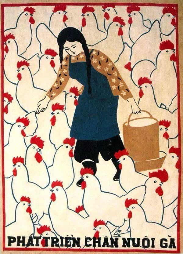 This Vietnamese agriculture poster gives me ideas... and makes me smile.