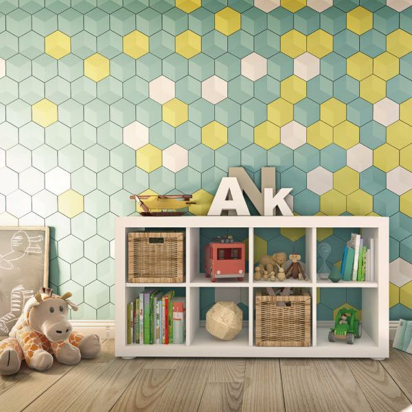 25 best ideas about cube mural on pinterest cubes deco. Black Bedroom Furniture Sets. Home Design Ideas