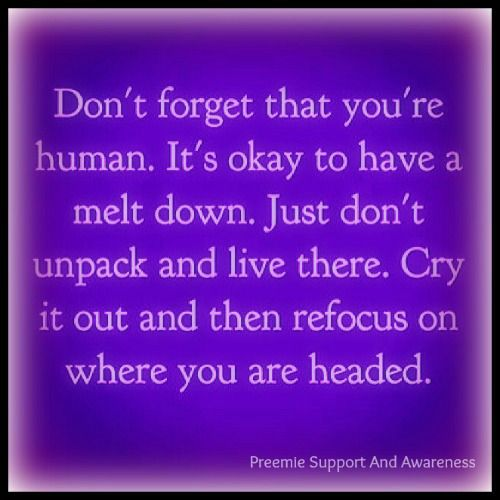 This is so true.....I have a little cry every day....then I try to move on.....#preemie #nicu #preemiesupportandawareness
