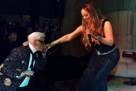 Mariah Carey Hits Her High Notes at Karl Lagerfeld DInner