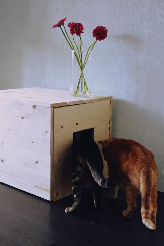 Wooden Litter Box Conversion//Wooden Cat Litter Box by Eibers