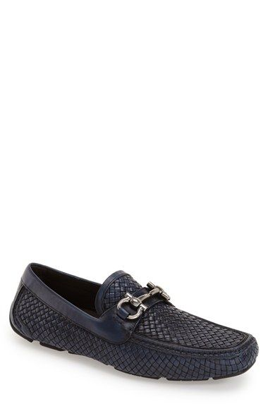 Salvatore Ferragamo 'Parigi' Woven Bit Loafer (Men) available at #Nordstrom