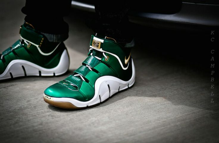 """""""SVSM"""" LeBron 4's.  http://solecollector.com/Sneakers/Marketplace/388211/lebron-iv-svsm-away-pe1/"""