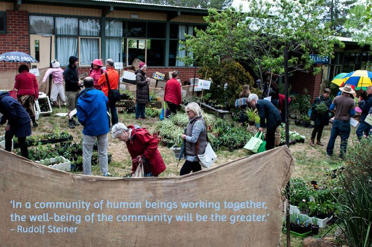 In a community of human beings working together, the well-being of the community will be the greater.