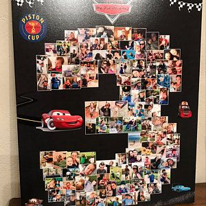 Disney CARS birthday party photo collage by Your Life My Design custom art featuring your by YourLifeMyDesign. https://www.etsy.com/listing/505943537/2nd-carousel-carnival-birthday-sign-two?ref=related-1