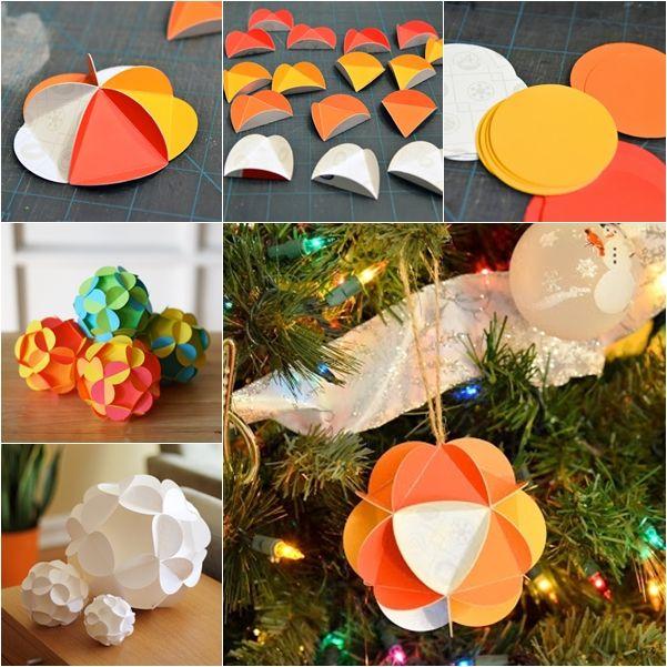 Wonderful DIY Pretty 3D Paper Ball Ornaments | WonderfulDIY.com